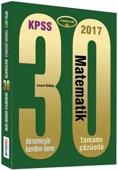 Yediiklim KPSS 2017 Matematik 30 Tamamı Çözümlü Deneme