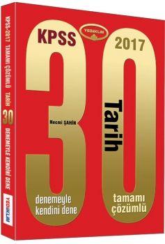 Yediiklim KPSS 2017 Tarih Tamamı Çözümlü 30 Deneme