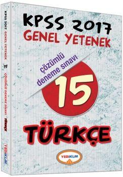 Yediiklim KPSS 2017 Türkçe Çözümlü 15 Deneme Sınavı