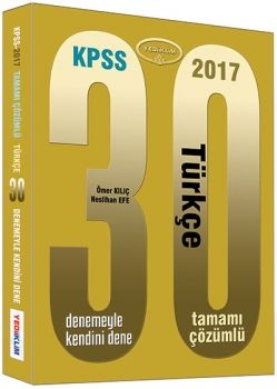 Yediiklim KPSS 2017 Türkçe Tamamı Çözümlü 30 Deneme