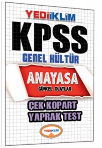 Yediiklim KPSS Anayasa Çek Kopart Yaprak Test