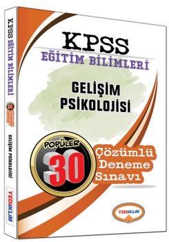 Yediiklim KPSS Eğitim Bilimleri Gelişim Psikolojisi Popüler 30 Çözümlü Deneme