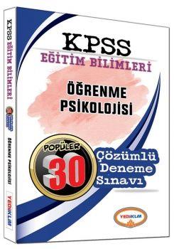 Yediiklim KPSS Eğitim Bilimleri Öğrenme Psikolojisi Popüler 30 Çözümlü Deneme