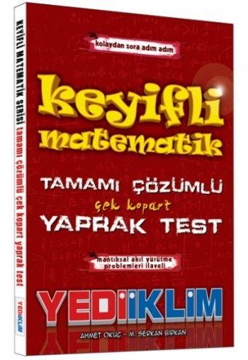 Yediiklim KPSS Keyifli Matematik Tamamı Çözümlü Yaprak Test