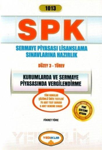 Yediiklim   SPK Kurumlarda ve Sermaye Piyasasında Vergilendirme