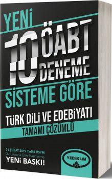 Yediiklim Yayınları ÖABT Türk Dili ve Edebiyatı Tamamı Çözümlü 10 Deneme