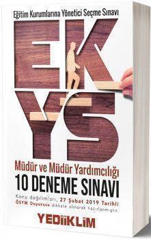 Yediiklim Yayınları EKYS Müdür ve Müdür Yardımcılığı 10 Deneme Sınavı