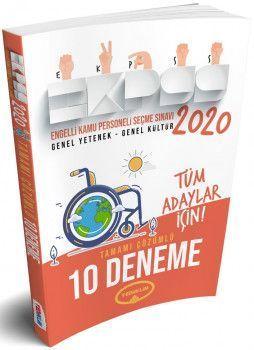 Yediiklim Yayınları 2020 EKPSS Tüm Adaylar İçin Tamamı Çözümlü 10 Deneme