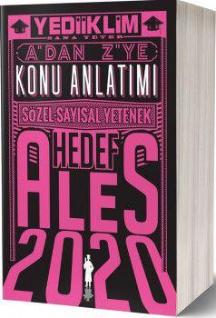 Yediiklim Yayınları 2020 ALES Sözel Sayısal Yetenek A dan Z ye Tamamı Çözümlü Hedef Soru Bankası