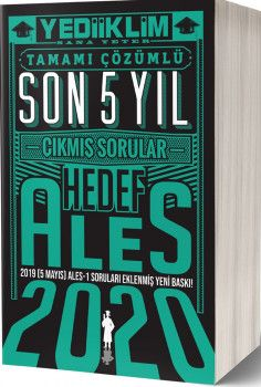 Yediiklim Yayınları 2020 ALES Hedef Son 5 Yıl Tamamı Çözümlü Çıkmış Sorular
