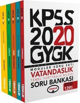 Yediiklim Yayınları 2020 KPSS Genel Yetenek Genel Kültür Tamamı Çözümlü Modüler Soru Bankası