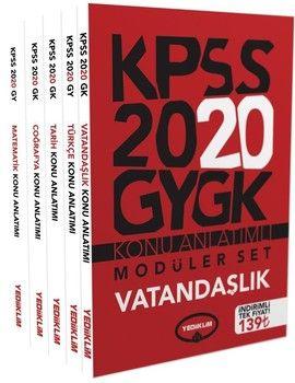 Yediiklim Yayınları 2020 KPSS Genel Yetenek Genel Kültür Konu Anlatımlı Modüler Set HEDİYELİ