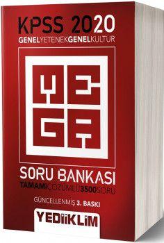 Yediiklim Yayınları 2020 KPSS Genel Yetenek Genel Kültür Mega Tamamı Çözümlü Soru Bankası