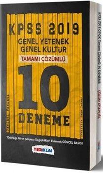 Yediiklim Yayınları2019 KPSS Genel Yetenek Genel Kültür Tamamı Çözümlü 10 Fasikül Deneme