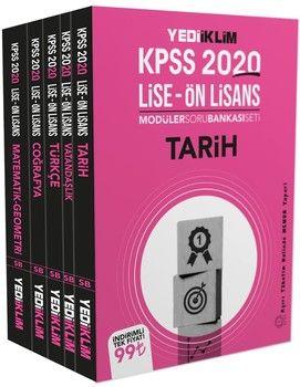 Yediiklim Yayınları 2020 KPSS Lise Önlisans Tamamı Çözümlü Modüler Soru Bankası