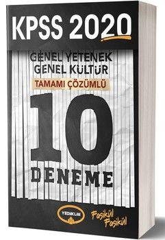 Yediiklim Yayınları 2020 KPSS Genel Yetenek Genel Kültür 10 Deneme