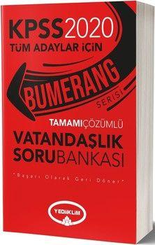 Yediiklim Yayınları 2020 KPSS Vatandaşlık Bumerang Tamamı Çözümlü Soru Bankası