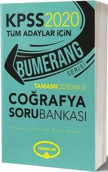 Yediiklim Yayınları 2020 KPSS Coğrafya Bumerang Tamamı Çözümlü Soru Bankası