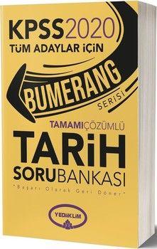 Yediiklim Yayınları 2020 KPSS Tarih Bumerang Tamamı Çözümlü Soru Bankası