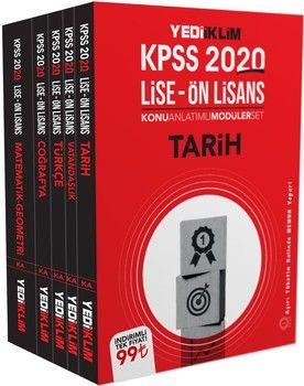 Yediiklim Yayınları 2020 KPSS GK GY Lise Önlisans Konu Anlatımlı Modüler Set