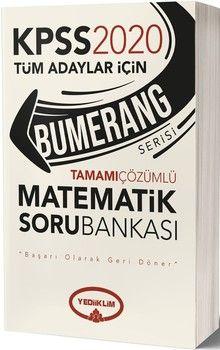 Yediiklim Yayınları 2020 KPSS Matematik Bumerang Tamamı Çözümlü Soru Bankası
