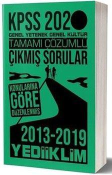 Yediiklim Yayınları 2020 KPSS Genel Yetenek Genel Kültür Tamamı Çözümlü Konularına Göre Çıkmış Sorular