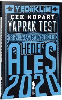 Yediiklim Yayınları 2020 ALES Sözel Sayısal Yetenek Çek Kopart Yaprak Test