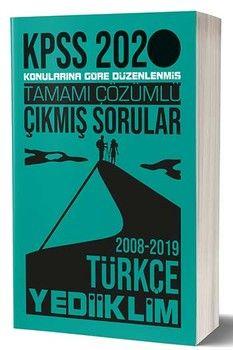 Yediiklim Yayınları 2020 KPSS Türkçe Konularına Göre Düzenlenmiş Tamamı Çözümlü Çıkmış sorular