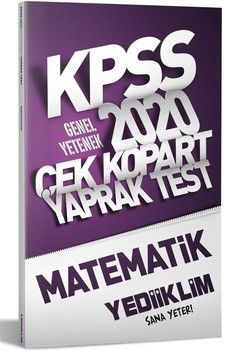 Yediiklim Yayınları 2020 KPSS Genel Kültür Matematik Çek Kopart Yaprak Test
