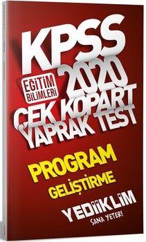 Yediiklim Yayınları 2020 KPSS Eğitim Bilimleri Program Geliştirme Çek Kopart Yaprak Test