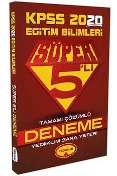 Yediiklim Yayınları 2020 KPSS Eğitim Bilimleri Süper 5 li Tamamı Çözümlü Deneme