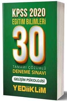 Yediiklim Yayınları 2020 KPSS Eğitim Bilimleri Gelişim Psikolojisi 30 lu Tamamı Çözümlü Deneme Sınavı