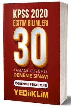 Yediiklim Yayınları 2020 KPSS Eğitim Bilimleri Öğrenme Psikolojisi 30 lu Tamamı Çözümlü Deneme Sınavı