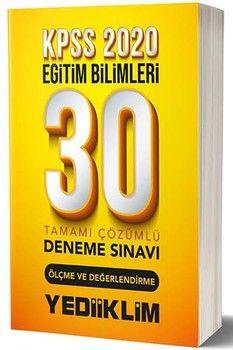 Yediiklim Yayınları 2020 KPSS Eğitim Bilimleri Ölçme ve Değerlendirme 30 lu Tamamı Çözümlü Deneme Sınavı