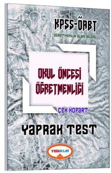 Yediiklim Yayınları 2017  ÖABT Okul Öncesi Çek Kopart Yaprak Test