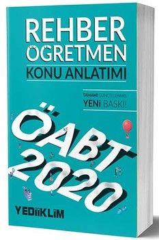 Yediiklim Yayınları 2020 KPSS ÖABT Rehber Öğretmen Konu Anlatımı