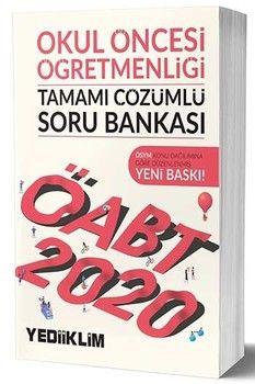 Yediiklim Yayınları 2020 ÖABT Okul Öncesi Öğretmenliği Tamamı Çözümlü Soru Bankası