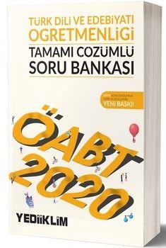 Yediiklim Yayınları 2020 ÖABT Türk Dili ve Edebiyatı Öğretmenliği Tamamı Çözümlü Soru Bankası