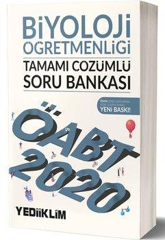 Yediiklim Yayınları 2020 ÖABT Biyoloji Öğretmenliği Tamamı Çözümlü Soru Bankası
