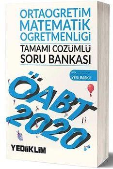 Yediiklim Yayınları 2020 ÖABT Ortaöğretim Matematik Öğretmenliği Tamamı Çözümlü Soru Bankası