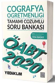 Yediiklim Yayınları 2020 ÖABT Coğrafya Öğretmenliği Tamamı Çözümlü Soru Bankası