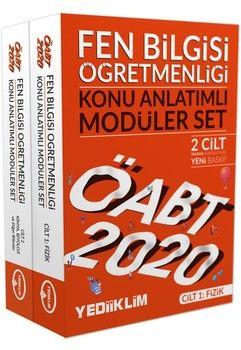 Yediiklim Yayınları 2020 ÖABT Fen Bilgisi Öğretmenliği Konu Anlatımlı Modüler Set 2 Cilt