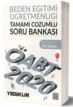 Yediiklim Yayınları 2020 ÖABT Beden Eğitimi Öğretmenliği Tamamı Çözümlü Soru Bankası
