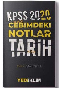 Yediiklim Yayınları 2020 KPSS Tarih Cebimdeki Notlar