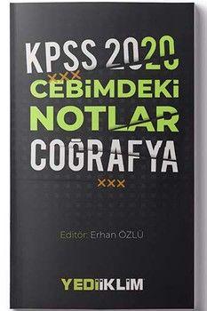 Yediiklim Yayınları 2020 KPSS Coğrafya Cebimdeki Notlar