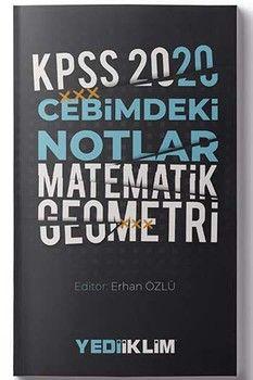 Yediiklim Yayınları 2020 KPSS Matematik Geometri Cebimdeki Notlar
