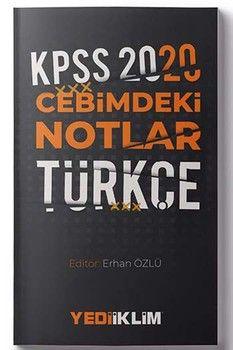 Yediiklim Yayınları 2020 KPSS Türkçe Cebimdeki Notlar