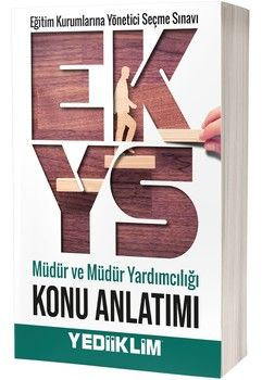 Yediiklim Yayınları EKYS Müdür ve Müdür Yardımcılığı Konu Anlatımı