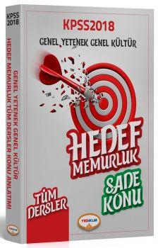 Yediiklim Yayınları 2018 KPSS Genel Yetenek Genel Kültür Hedef Memurluk Sade Konu Anlatımı