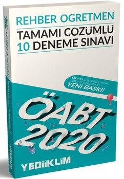 Yediiklim Yayınları 2020 ÖABT Rehber Öğretmen Tamamı Çözümlü 10 Deneme Sınavı